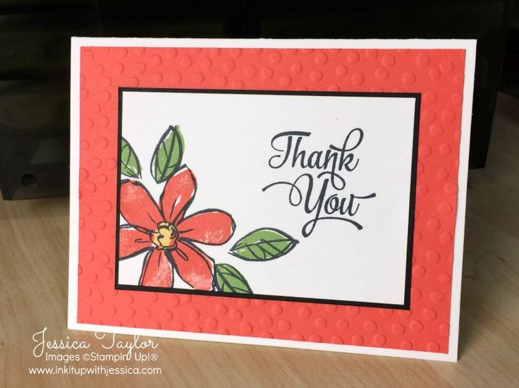 Garden in Bloom Thank You Card - stamps from Stampin' Up!