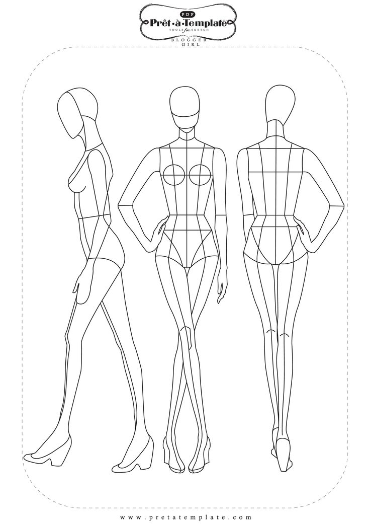 Drawing for Fashion designer drawing template