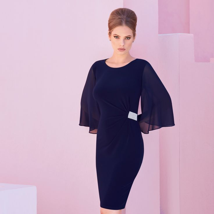 Joseph Ribkoff dress style 173032 - Blue | 1ère Avenue