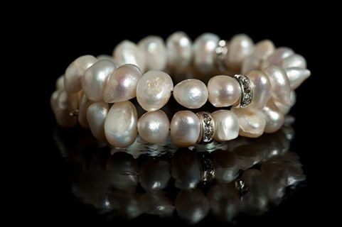 Luxurious freshwater pearls for a bridal evening wear bracelet.   Learn to make it at www.thebead.co.uk