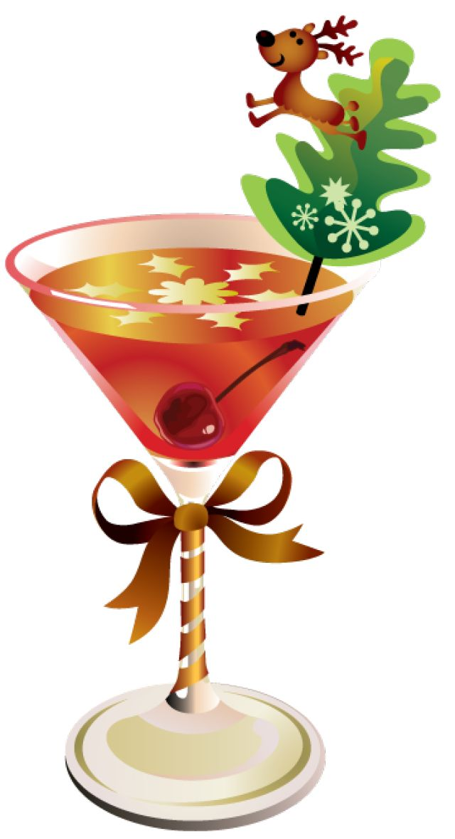 Drinks with Umbrella Transparent Background | Christmas Drink Clipart clip art christmas martini clipart - clipart ...