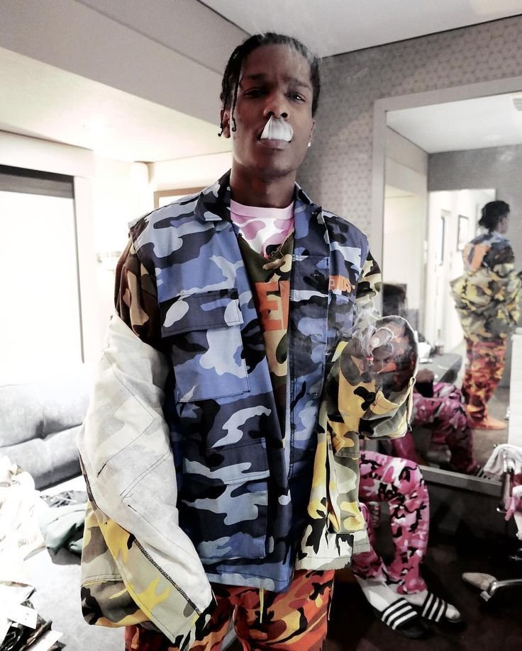 @asaprocky behind the scenes on set for @asapmob's