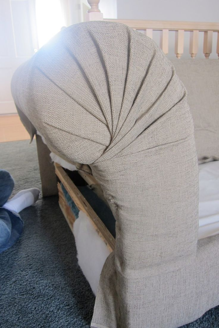 DIY Reupholstering a couch.. Very detailed instructions,  AMAZING result!!  Totally gonna try :)                                                                                                                                                                                 More