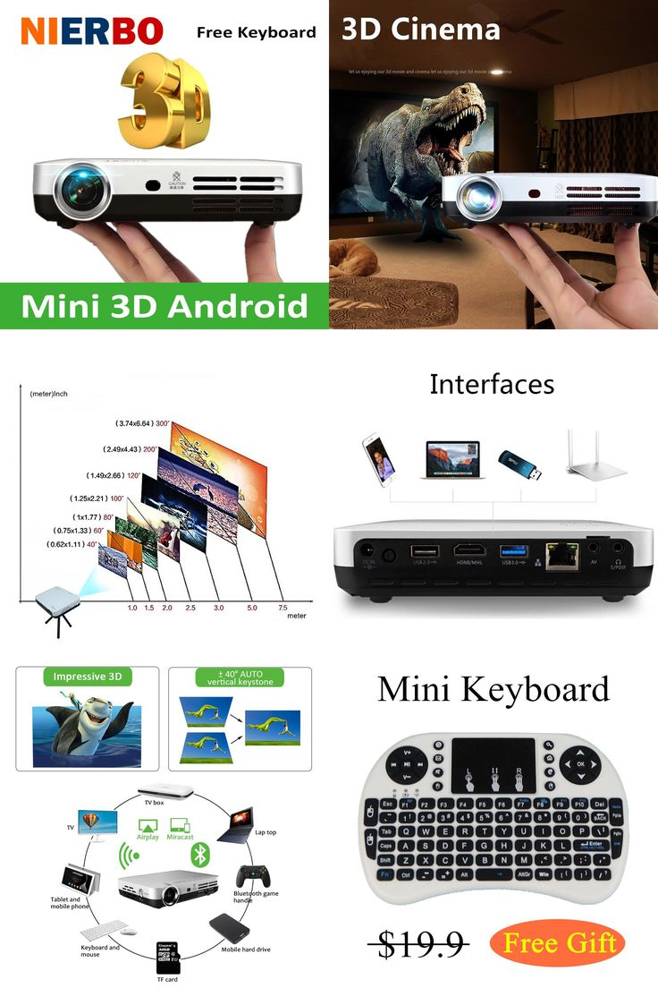 [Visit to Buy] Mini 3D Projector 1080P Full HD DLP Smart Android Wireless Projectors Multimedia Video LED Pocket Bluetooth Projector HDMI USB #Advertisement