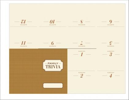 Free printable: Family trivia game