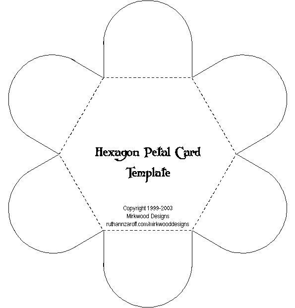 Hexagon card template