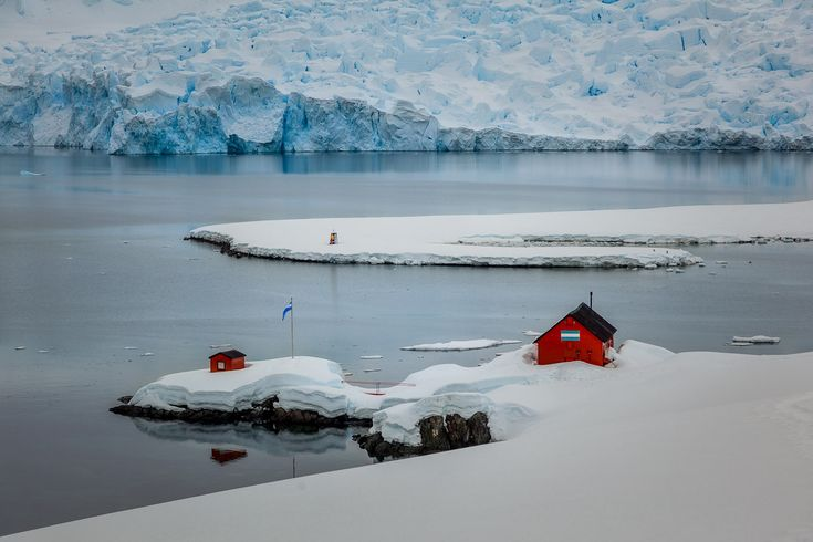 Overlooking the Argentinian research base at Paradise Harbour, Antarctic Peninsula