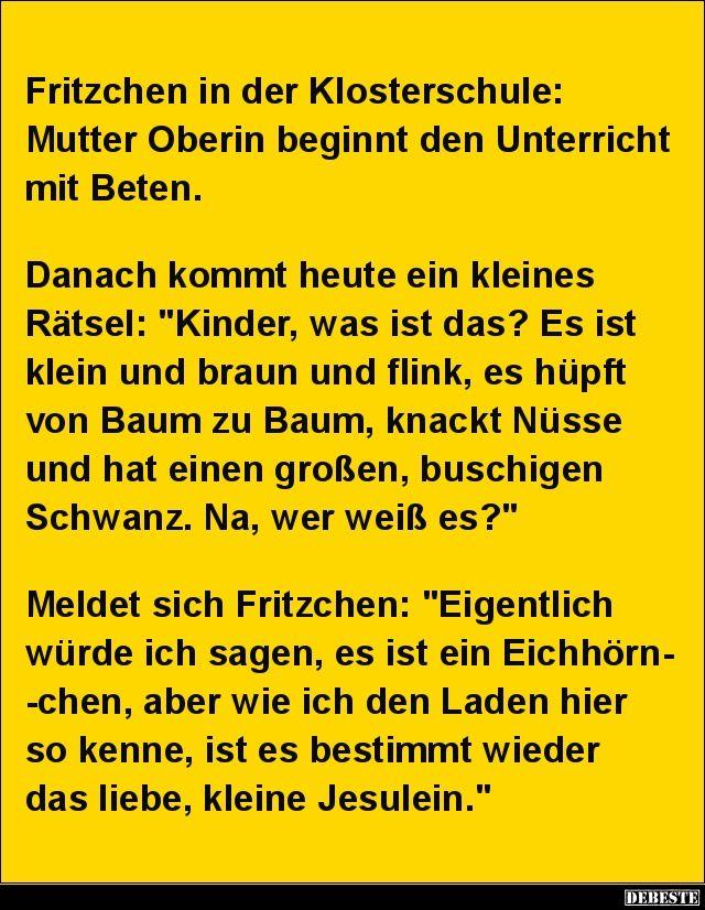 Fritzchen in der Klosterschule..