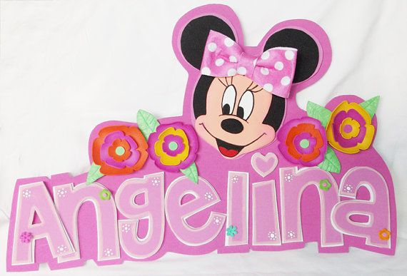 3D Foamie Wall Decor  Minnie Mouse Personalized  by FofuchasDolls, $20.00