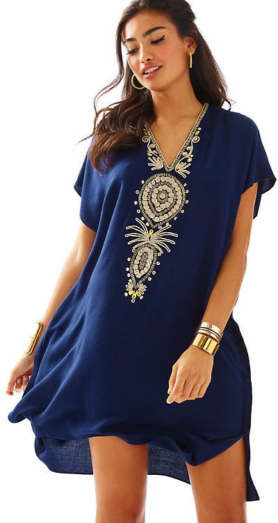 Lilly Pulitzer Chai V-Neck Caftan Dress