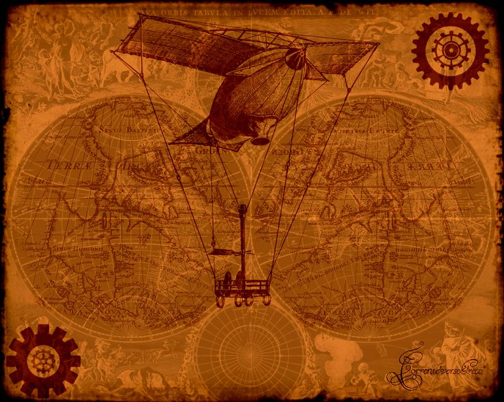 Steampunk map steampunk pinterest steampunk and maps for Steampunk wallpaper home