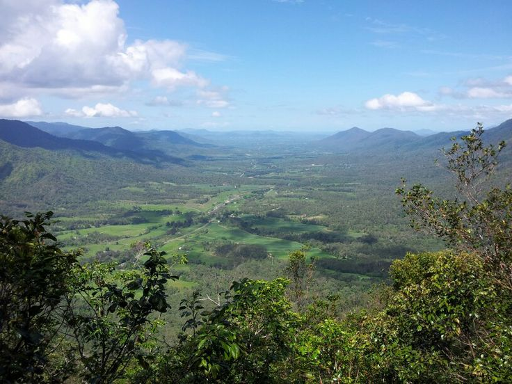 Looking out over Pioneer Valley at Eungella Chalet west of Mackay, Queensland. A lovely place for a weekend get away.