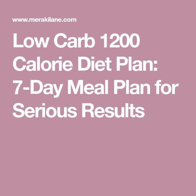 1200 calorie low carb diet plan pdf