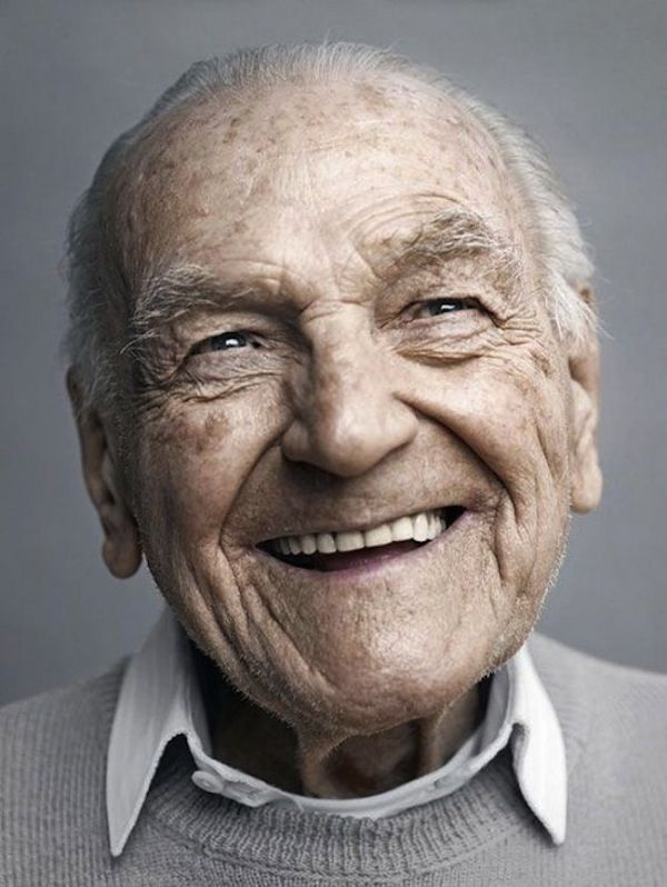 faces of centenarians