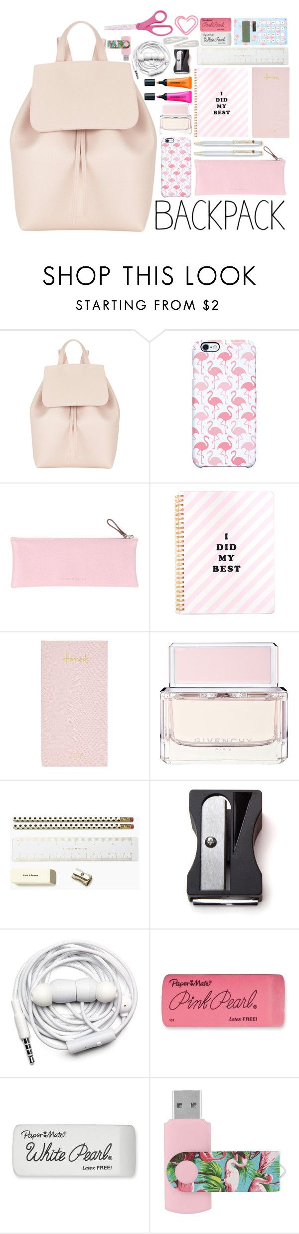"""""""back to school: What's in My Backpack?"""" by lisannes1 ❤ liked on Polyvore featuring interior, interiors, interior design, home, home decor, interior decorating, Mansur Gavriel, Uncommon, Giorgio Fedon 1919 and Harrods"""