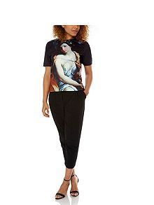Baroque Art Print Oversized T-Shirt