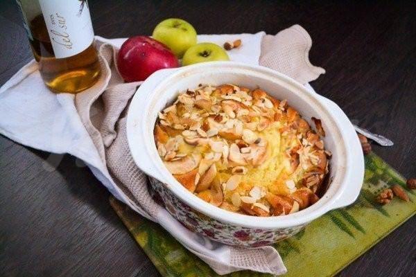 Самый простой и вкусный яблочный пирог с орехами
