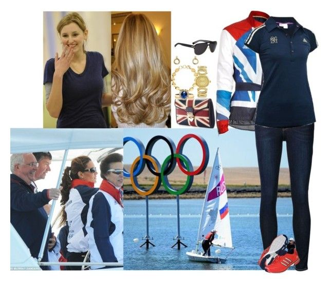 """""""Cheering on Team GB at Olympic Sailing events at Weymouth with Henry's cousin, Sarah Darby"""" by lady-maud ❤ liked on Polyvore featuring Aspinal of London, Frame Denim, adidas, Christian Dior, Elsa Peretti and Just Cavalli"""