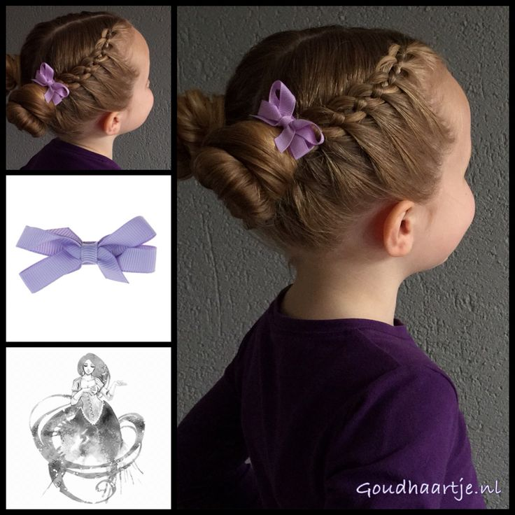 Two four strand braids with two messy buns and a cute bow from the webshop www.goudhaartje.nl (worldwide shipping). Hairstyle inspired by @braids_by_valeriya (instagram) #hair #hairstyle #bow #braid #braids #fourstrandbraid #4strandbraid #bun #messybun #cute #sweet #lovely #hairstylesforgirls #updo #hairaccessories #hairinspiration #hairideas #vlecht #plait #trenza #beautifulhair #gorgeoushair #lovelyhair #goudhaartje