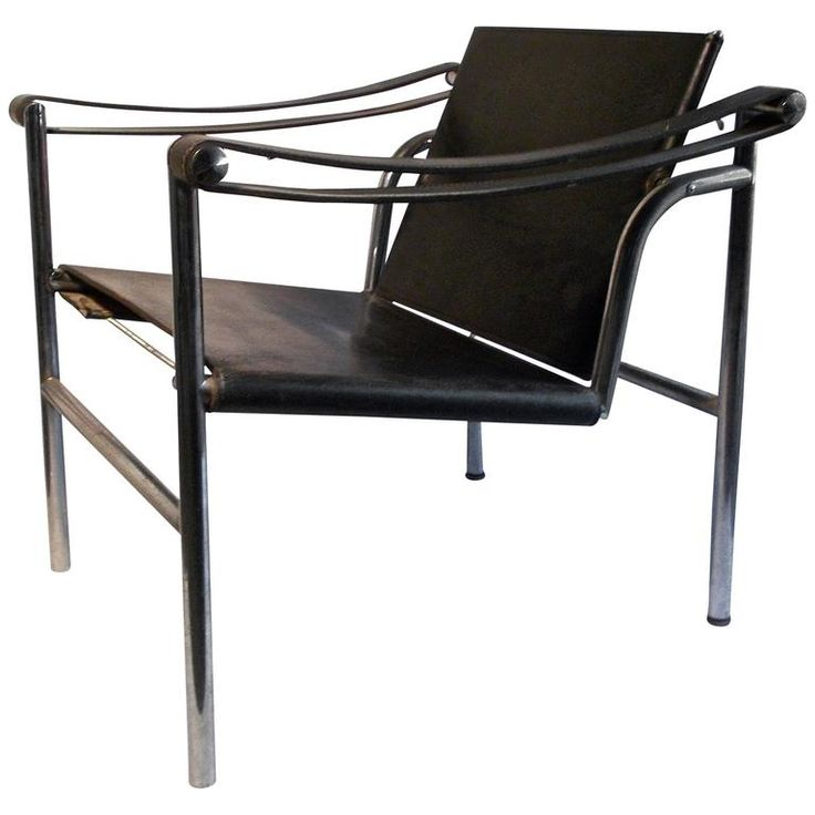 Le Corbusier LC1 Signed Cassina Basculant Chair In Black Leather. International  StyleLe ...