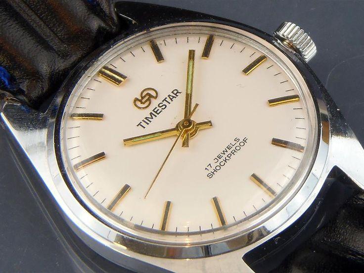 Vintage Timestar Mekanisk Klocka 17 Jewels Retro Ur