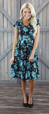 Amy Dress (Blue)