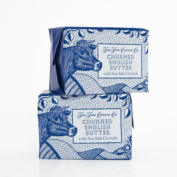 The Fine Cheese Co. Churned English Butter | Illustration by John Broadley | Design by Irving & Co.