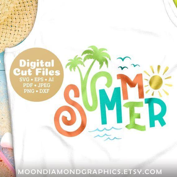 Sommer-SVG, schneiden Sie Dateien, Strand tropischen Zeichen Svg, FlipFlop Svg, Palme Svg, EP…