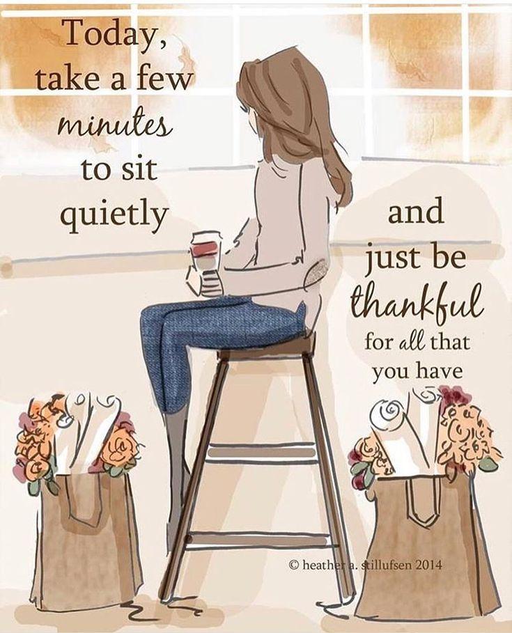 "Heather 🌸 Stillufsen on Instagram: ""Today, take a few minutes to just sit and  be thankful! 🧡🍁 #heatherstillufsen #thanksgiving #dailymemes"""