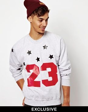 Reclaimed Vintage Sweat With 23  Print