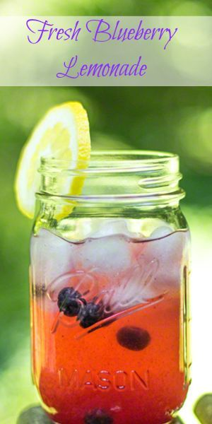 Looking for a blueberry recipe? Fresh Blueberry Lemonade is a perfect summer beverage! #FreshFromFlorida #IC (ad)