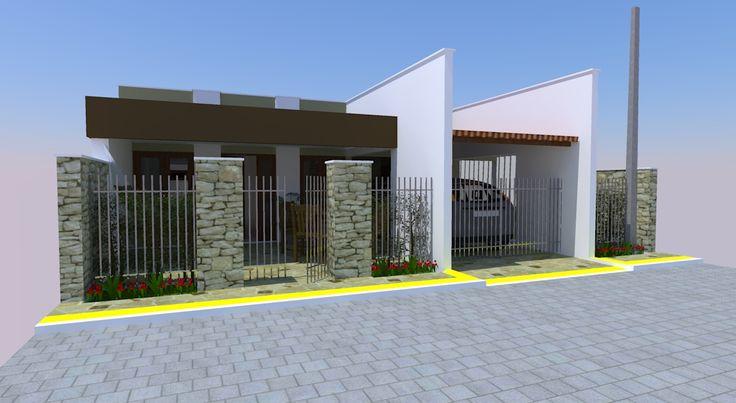 Modelos de muros e fachadas 30 modelos muros e cercas for Modelos de casas fachadas fotos