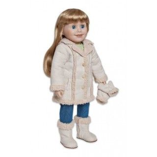 Shear Delight: Winters in Manitoba are long and cold; Brianne shares this with you in her journal pages. Her warm and cozy sheepskin coat helps her beat the chilly temperatures and Brianne's smitten with her matching mittens and lined winter boots.