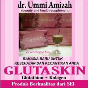 Glutaskin dr. Ummi Amizah mengandung Glutathione plus collagen, ingin jadi agen atau reseller (bisa dropship) hubungi : Pin BB : 73D9D2EC. WA : 08880.1721.656