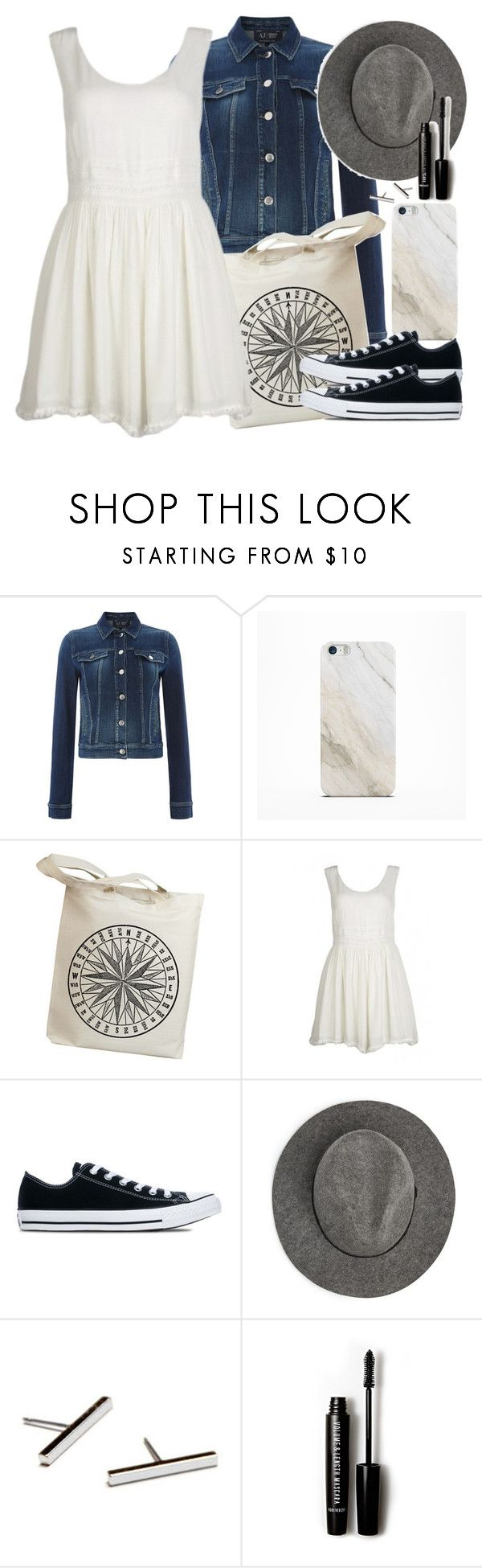 """""""Allison Inspired Outfit"""" by veterization ❤ liked on Polyvore featuring Armani Jeans, Samsung, Converse, MANGO and Forever 21"""