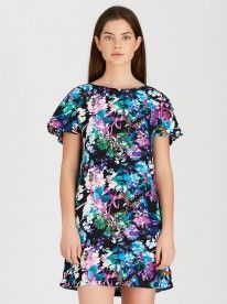 STYLE REPUBLIC Dress with Back Detail Multi-colour
