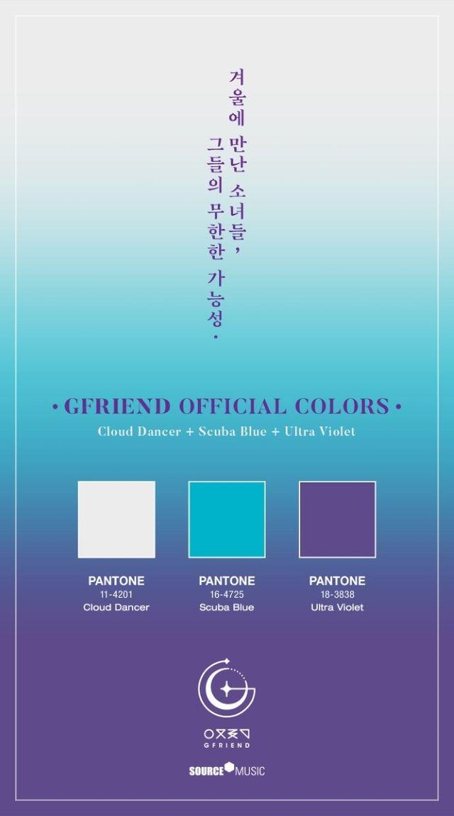 Gfriend 官方應援色 Interest Kpop Color Colour Pallete