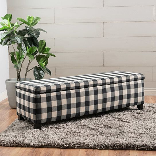 Buy Colby Fabric Storage Ottoman Bench by GDFStudio on Dot & Bo