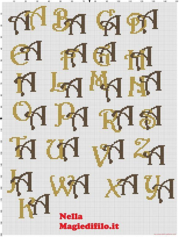 Iniziali lettere intrecciate A