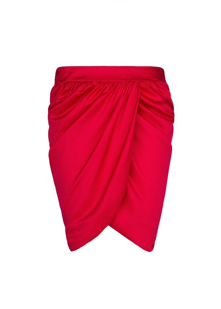 MANGO - CLOTHING - Skirts - Wrapped satin skirt