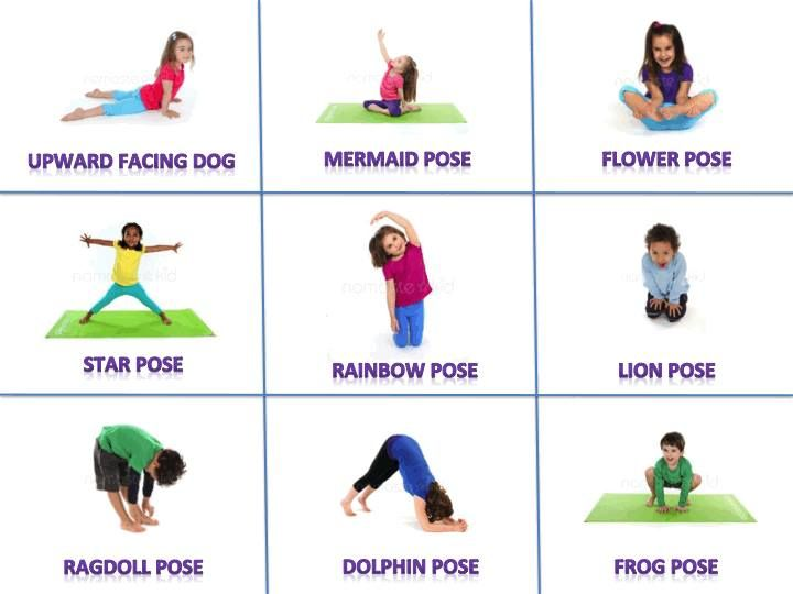 Yoga Poses For Kids Cards Place the cards in a messy
