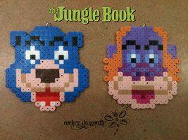 Baloo and King Louie Jungle Book perler beads by RockerDragonfly on deviantART