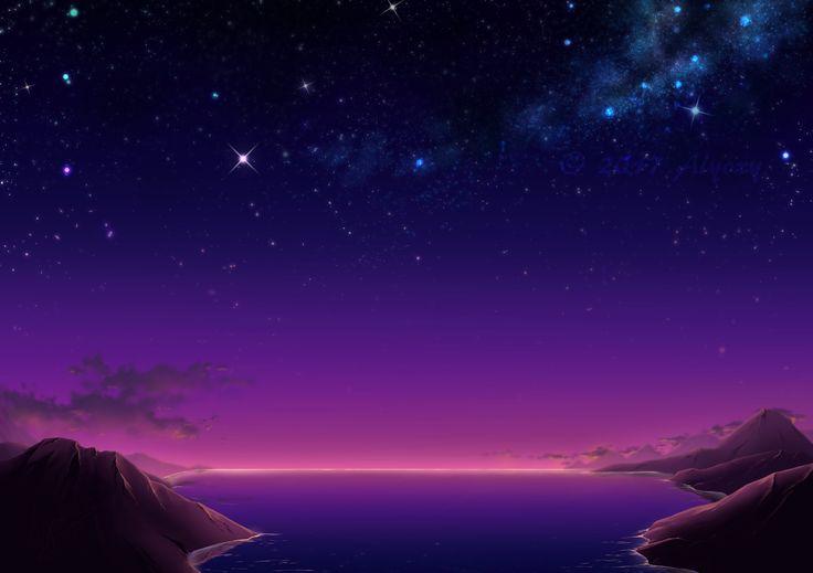 Lake view at sunset  (Manga Studio EX)