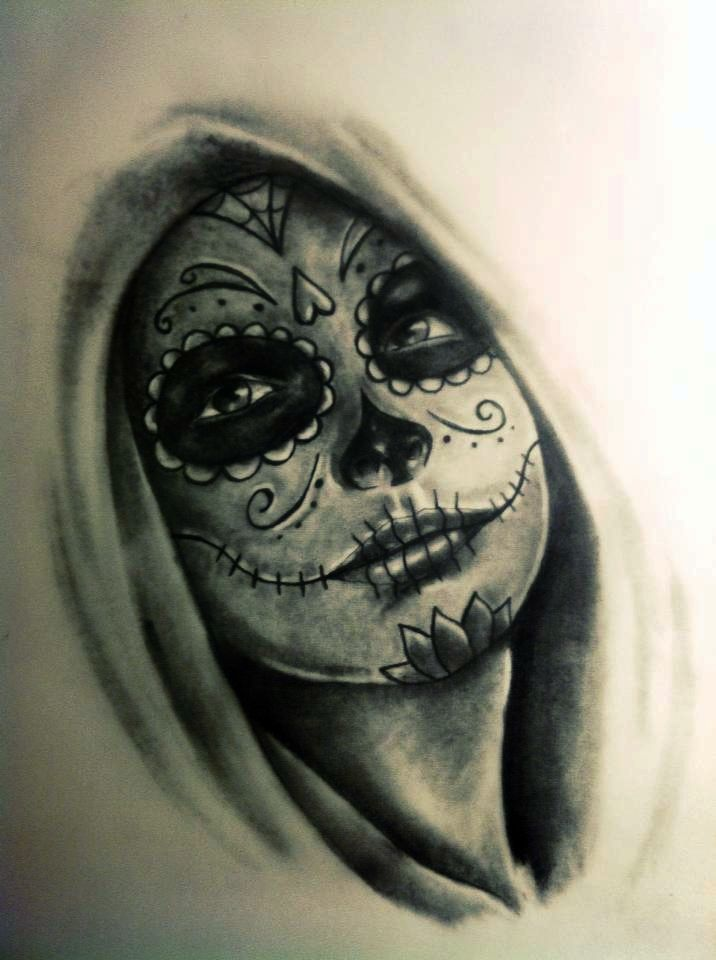 Best 25 day of dead tattoo ideas on pinterest day of for Ink craft tattoo