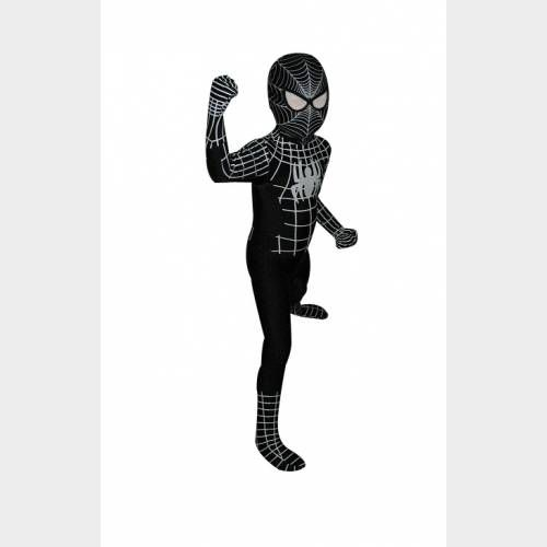 Déguisement pour enfant Spiderman noir afin que votre petit protégé se sente comme le vrai super héros ! Parfait pour une soirée déguisée ou un carnaval
