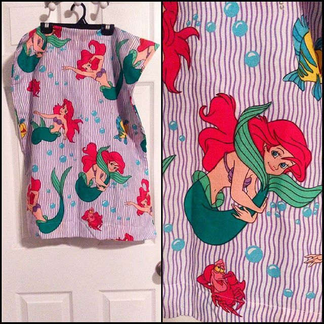Deadstock unused 80s Little Mermaid pillowcase. #ariel