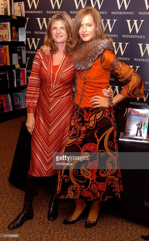 Susannah Constantine and Trinny Woodall during Trinny and Susannah Sign Copies of 'What You Wear...