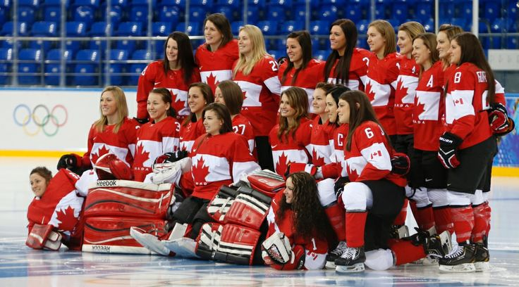 Photos: Canadians at Sochi Olympics Day 1 | News and Blogs - CTV News at Sochi 2014  Canada's Women's ice hockey team poses for a photograph prior to their practice session ahead of the 2014 Winter Olympics.  February 6, 2014.