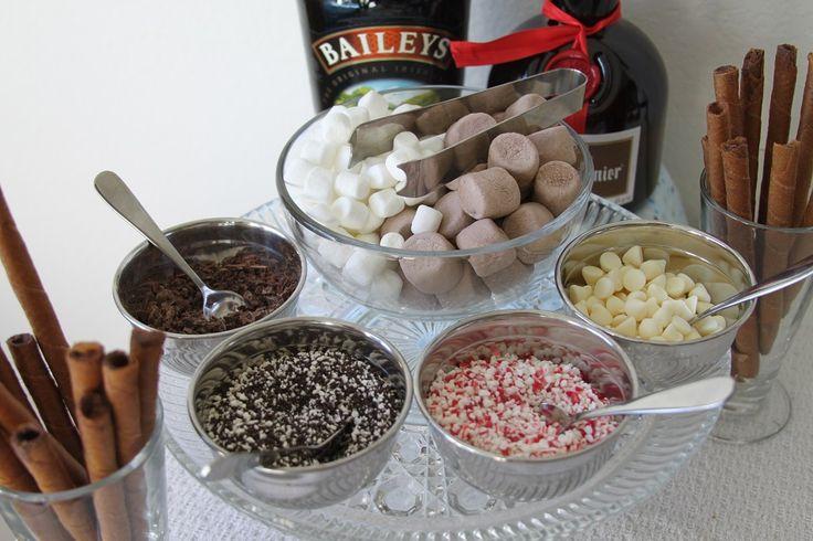 Winter Wonderland Baby Shower= Hot cocoa Bar. Love the idea of a winter wonderland baby shower! :)