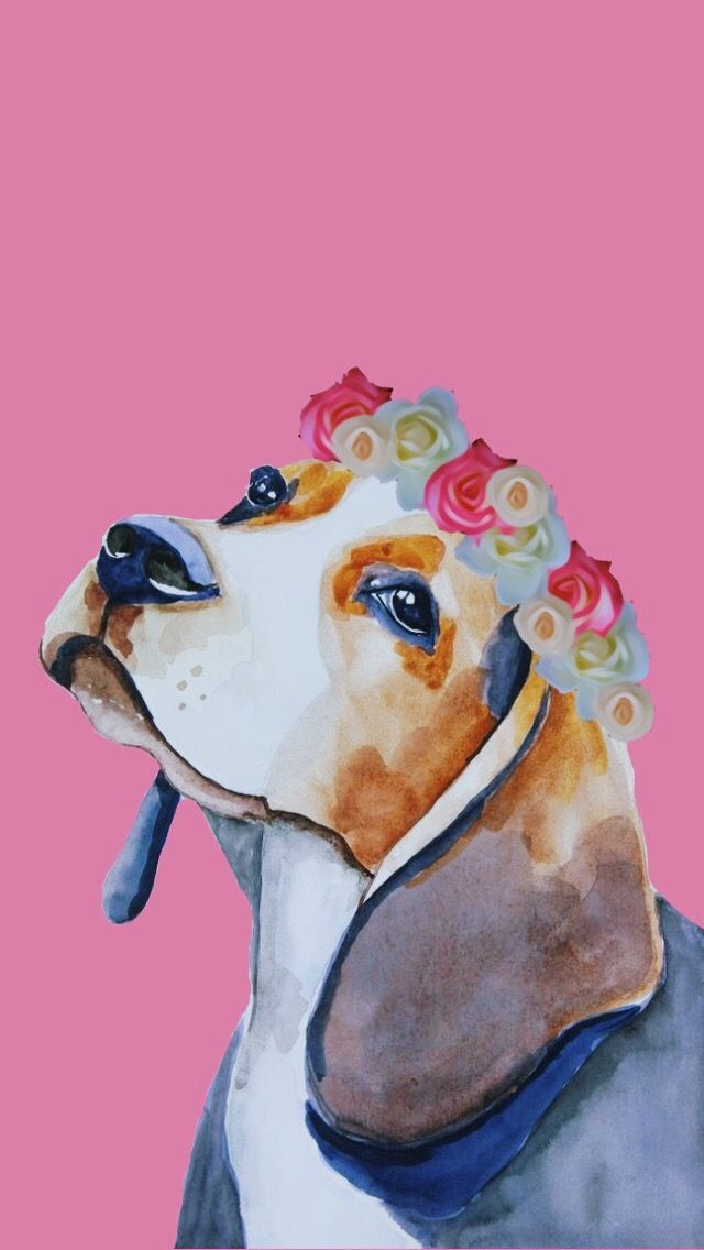 Beagle Wallpaper With Images Beagle Art Dog Illustration